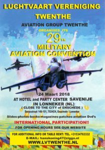 29th Twenthe Military Aviation Convention @ Hotel Party Center Savenije