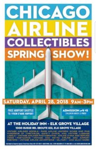 2018 CHICAGOLAND AIRLINE COLLECTIBLE SHOW @ Holiday Inn - Elk Grove Village