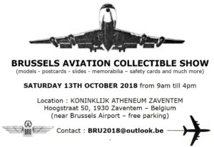 Brussels Aviation Collectible Show @ Koninklijk Atheneum Zaventem