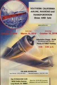 SOUTH CALIFORNIA AIRLINERS & TRANSPORTATION SHOW @ Long Beach Petroleum Club