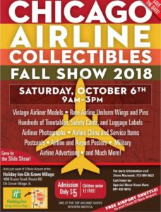 CHICAGO AIRLINE COLLECTIBLES FALL SHOW @ Holiday Inn Elk Grove Village