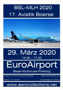 AeroCollections 2020 17th Aviation Collectors Show EuroAirport Basel-Mulhouse-Freiburg @ EuroAirport Basel-Mulhouse-Freiburg Hall 4, South Terminal (Swiss side), 5th floor