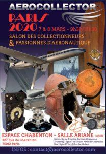 Aerocollector Paris 2020, Salon des Collectionneurs & Passiones D'Aeronautigue @ Espace Charenton - Salle Ariane