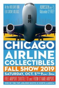 2019 Chicagoland Airline Collectible Show @ Holiday Inn - Elk Grove Village